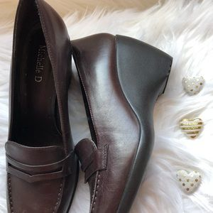 Shoes - Wedge Loafers brown leather NEW